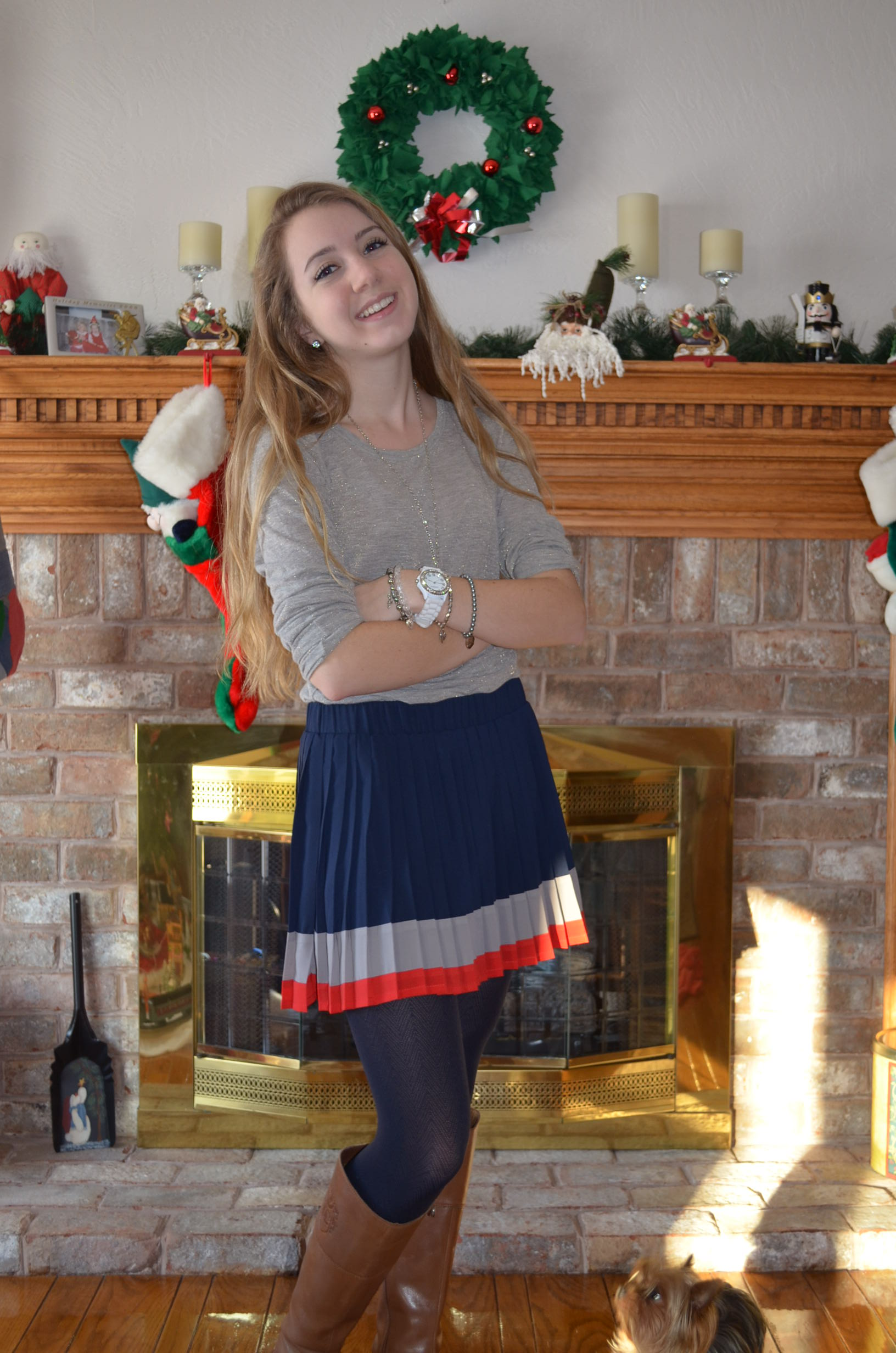 Outfit Of The Day: Pleated Skirt