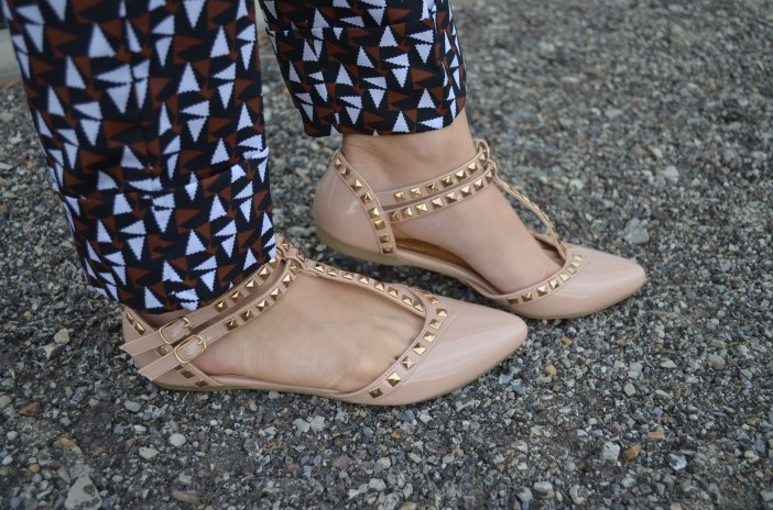 3 studded girly shoes