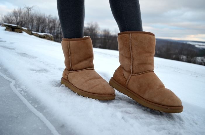 Chestnut short ugg boots