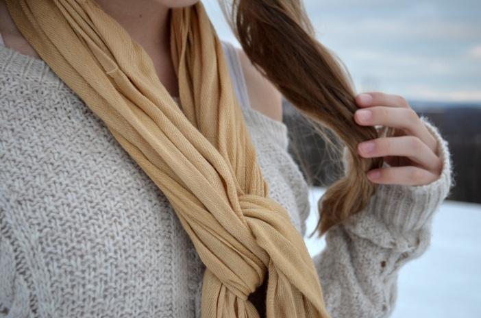 tan scarf
