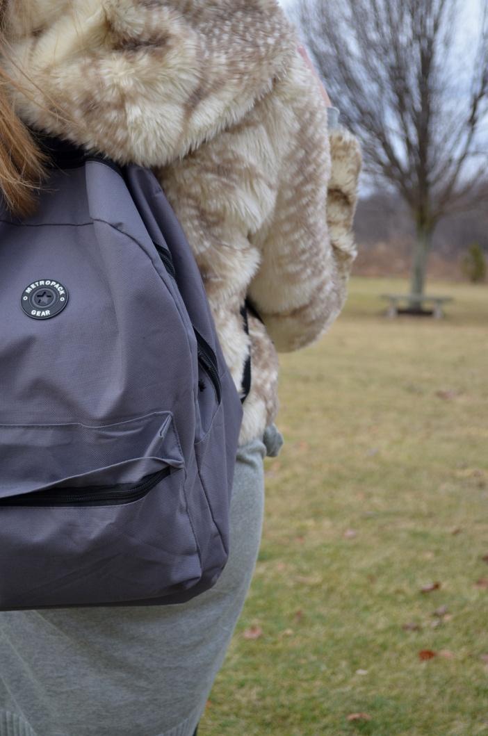 gray bookbag