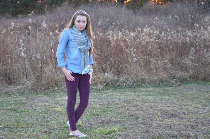 purple pants