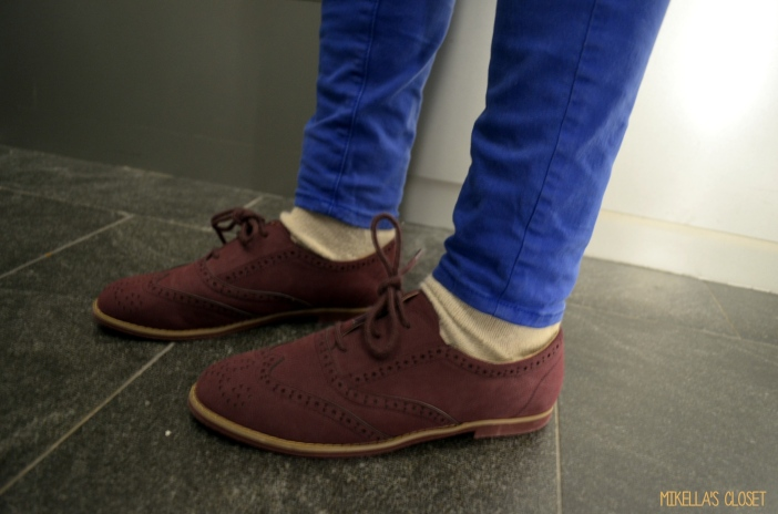 Purple Wingtip Loafers