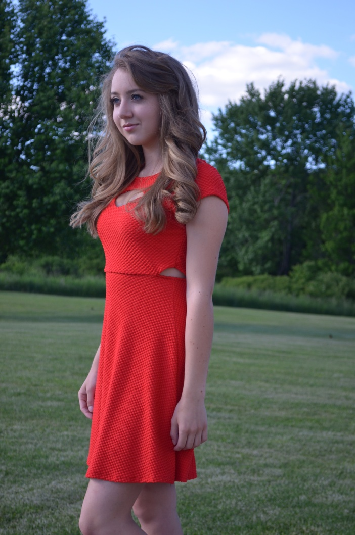 Cutout Red Dress