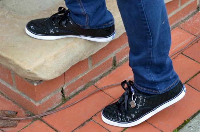 black sparkle keds